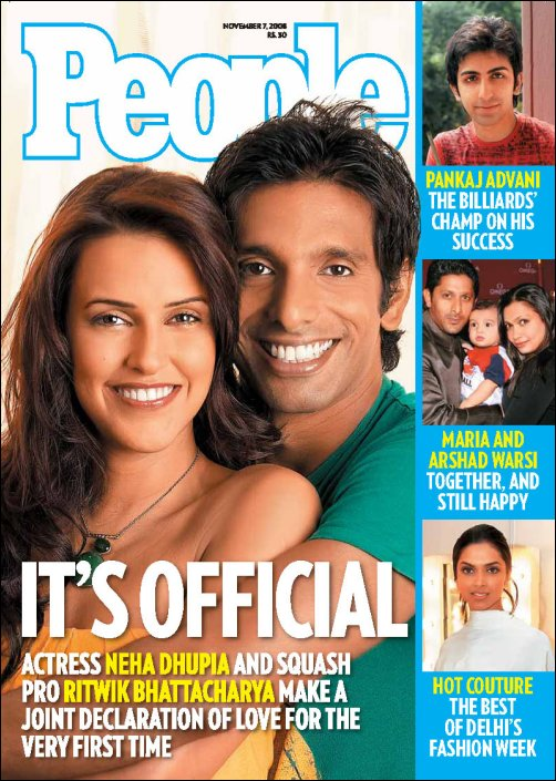 Neha Dhupia couple