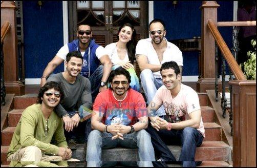 Ajay Devgn, Kareena Kapoor, Rohit Shetty, Kunal Khemu, Shreyas Talpade, Arshad Warsi, Tusshar Kapoor
