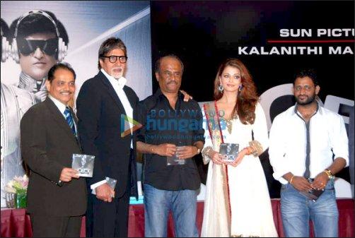 Amitabh Bachchan, Rajinikanth, Aishwarya Rai Bachchan, Resul Pookutty