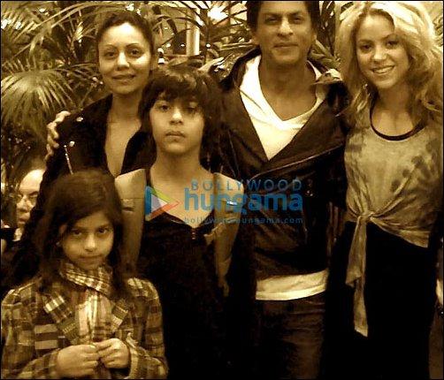 Gauri Khan, Shahrukh Khan, Shakira