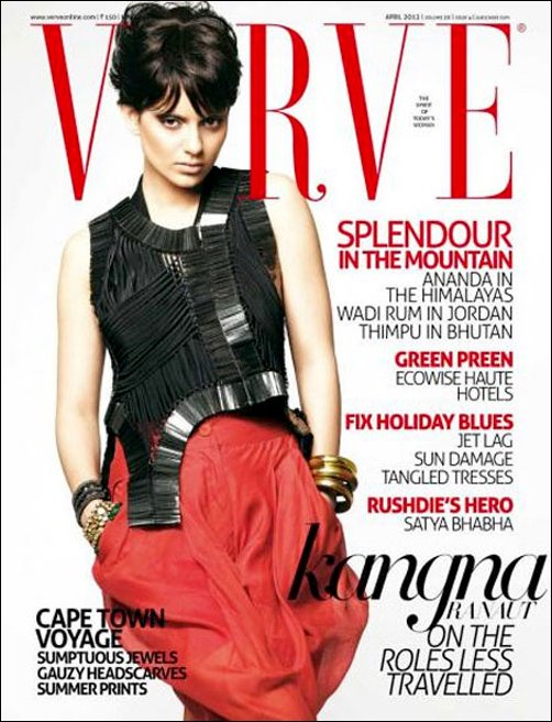 Kangna sizzles on the cover of Verve