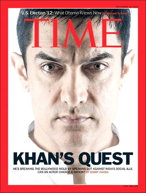 Aamir Khan features on Time magazine cover