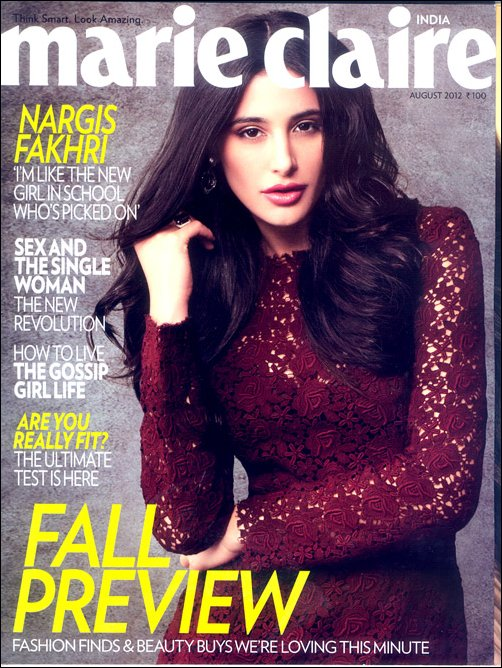 Nargis Fakhri and her confessions in Marie Claire