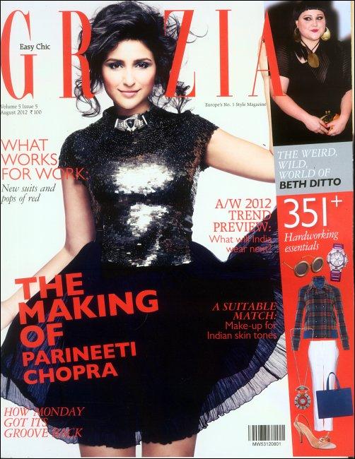 Parineeti sparkles on the cover of Grazia