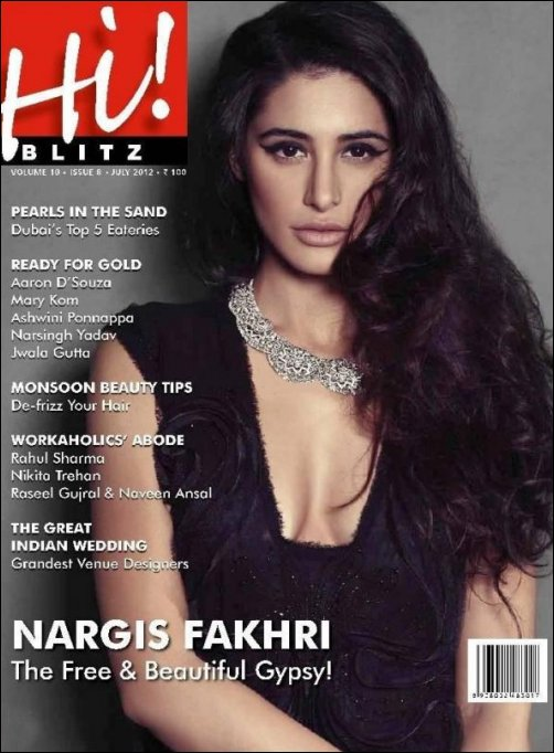 Nargis on cover of Hi Blitz