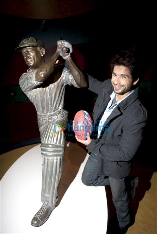 Shahid meets Sir Don Bradman