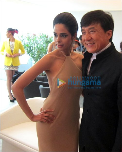 Mallika meets Jackie Chan at Cannes 2012