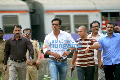 Sonu Sood on the sets of Maximum