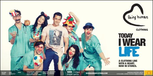 Check out: Salman's 'Being Human' clothing line