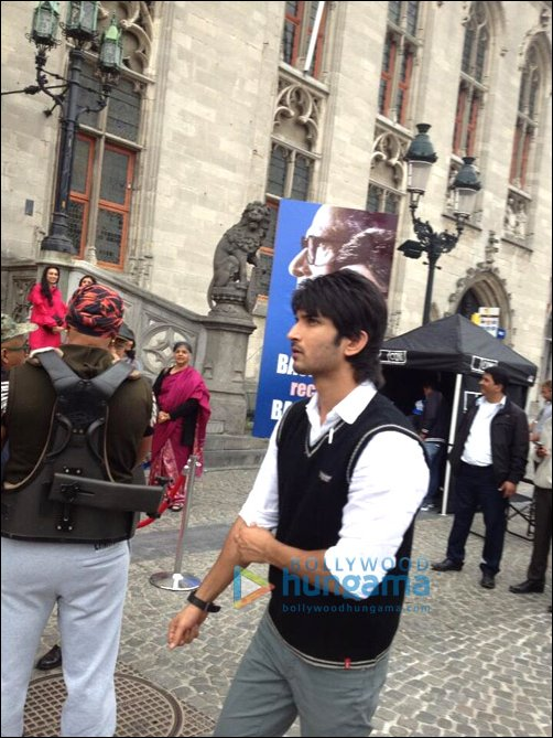 Check out: Anushka, Sushant on sets of Peekay in Bruges