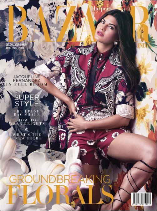 Jacqueline Fernandez sizzles on Harpers Bazaars cover