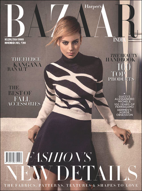 Check out Kangna Ranaut sizzles on the cover of Harpers Bazaar