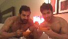 Varun Dhawan and John Abraham eat breakfast in their towels
