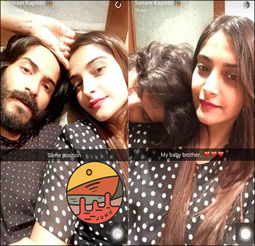Sonam Kapoor posts picture with her little brother Harshvardhan