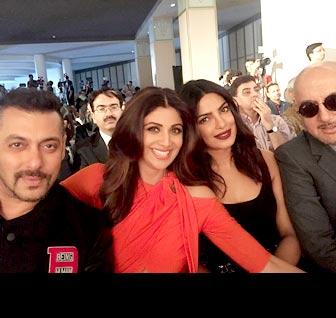IIFA diaries: Salman bonds with pretty ladies Shilpa and Priyanka
